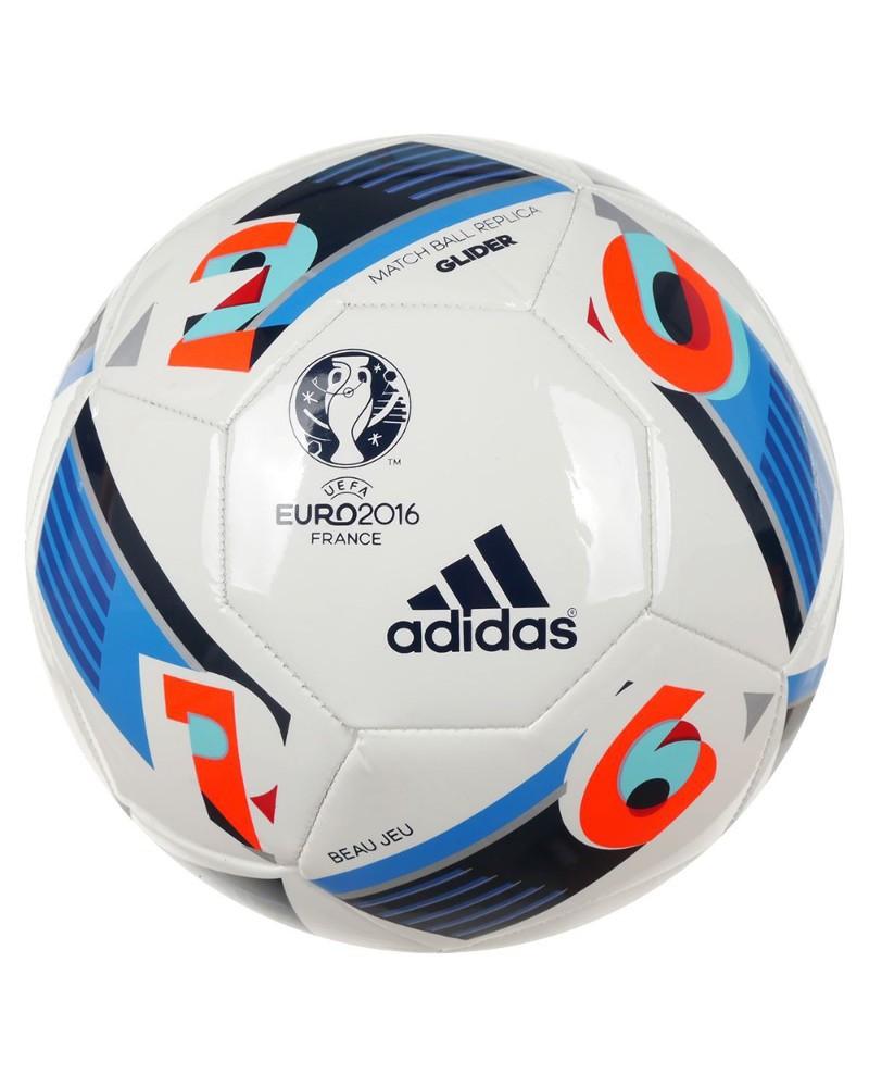 Adidas EURO 2016 France Glider Pallone Calcio Bianco Termosaldato 0