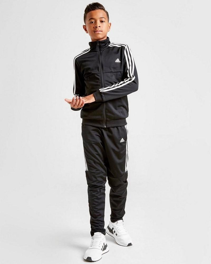 Adidas TIRO Tuta Allenamento Training 2020 Bambino Nero Tempo Libero 0
