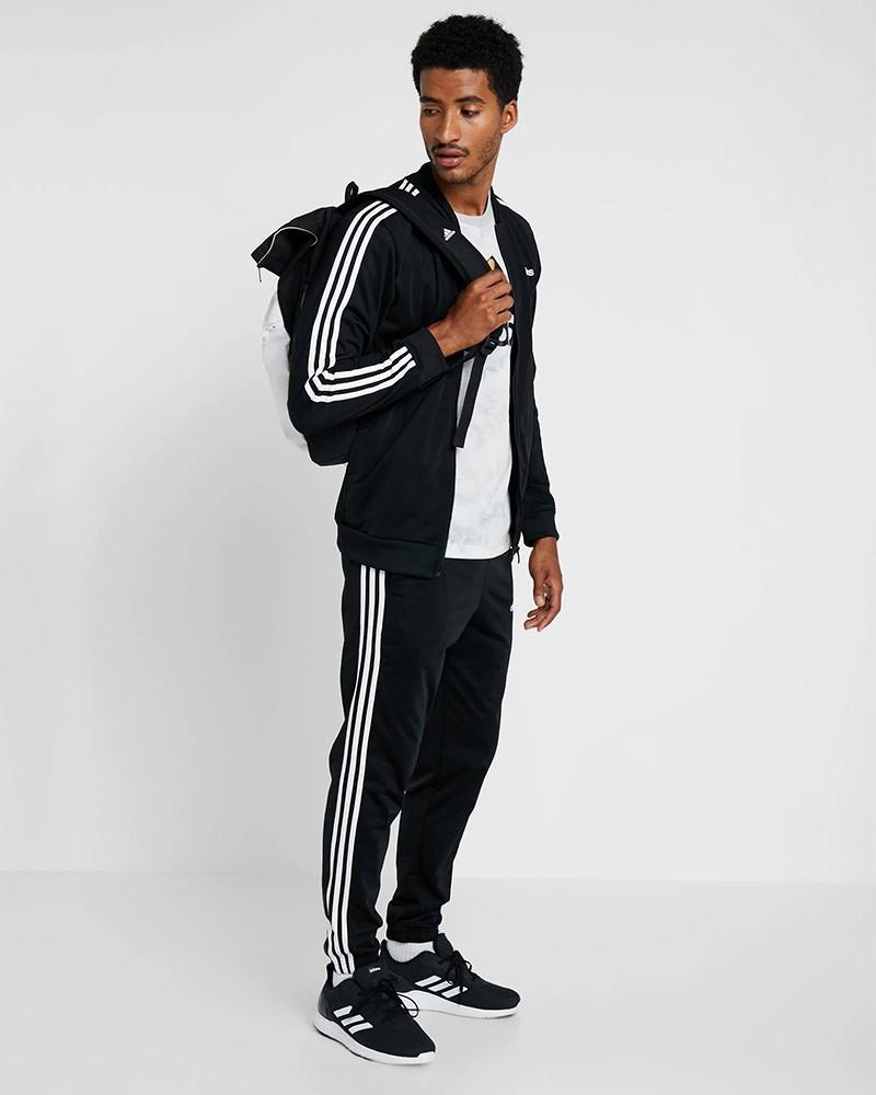 Adidas Tuta tempo libero 2020 3-stripes Tricot Full zip UOMO Nero 0