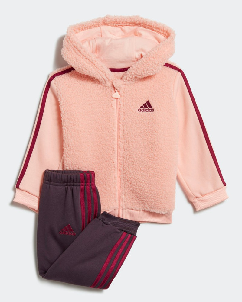 Adidas TUTA completo tutina neonata cappuccio FUR FULL-ZIP HOODED 2020 Rosa 0