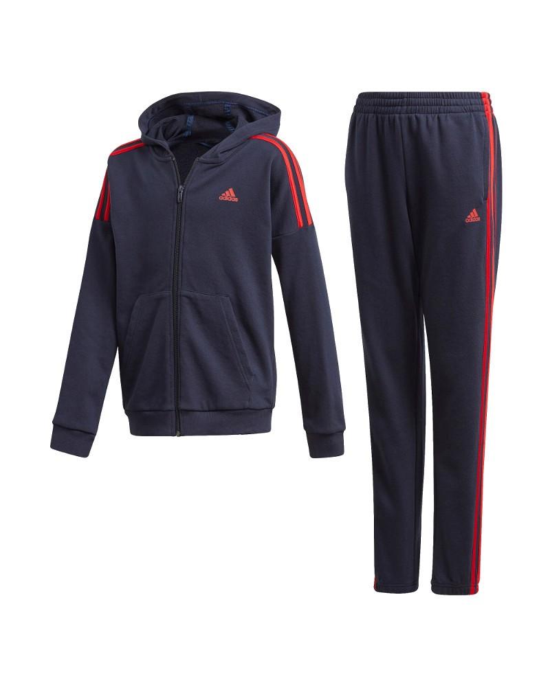 Adidas JB Cotton TS Tuta Allenamento Training 2020 Bambino Ragazzo Blu scuro 0