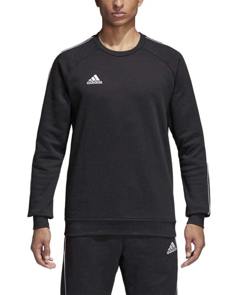 Adidas CORE 18 Felpa Sportiva Girocollo Nero 2020 21 Uomo Cotone 0