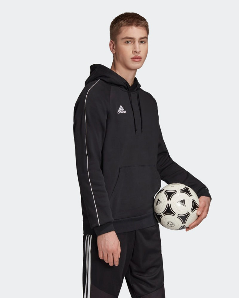 Adidas Core 18 Felpa Cappuccio Hoodie Nero Cotone 2020 21 Core 18 Uomo 0