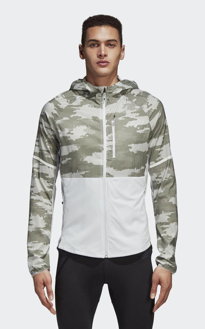 Adidas Giacca Sportiva Sport Jacket Ultra Graphic k-way Bianco tasche con zip 0
