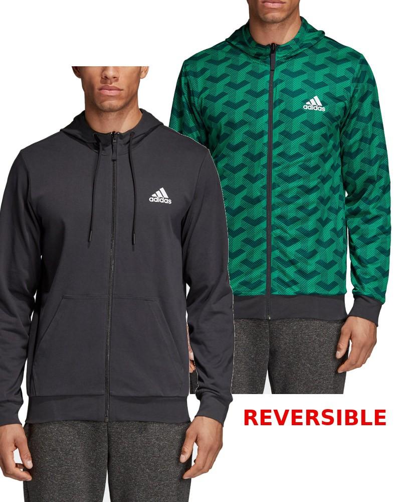 Adidas Giacca Sportiva Sport Jacket M SID reversibile Full Zip Cappuccio 0
