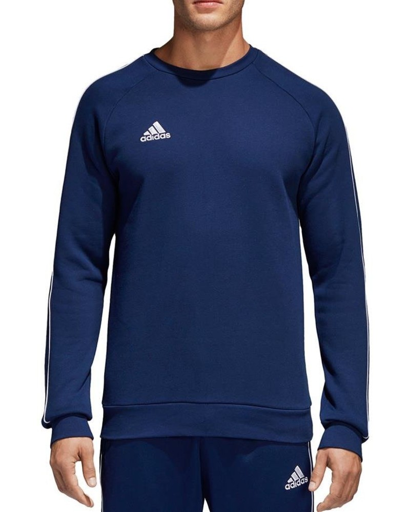 Adidas CORE 18 Felpa Sportiva Girocollo pullover Blu 2020 21 Uomo Cotone 0