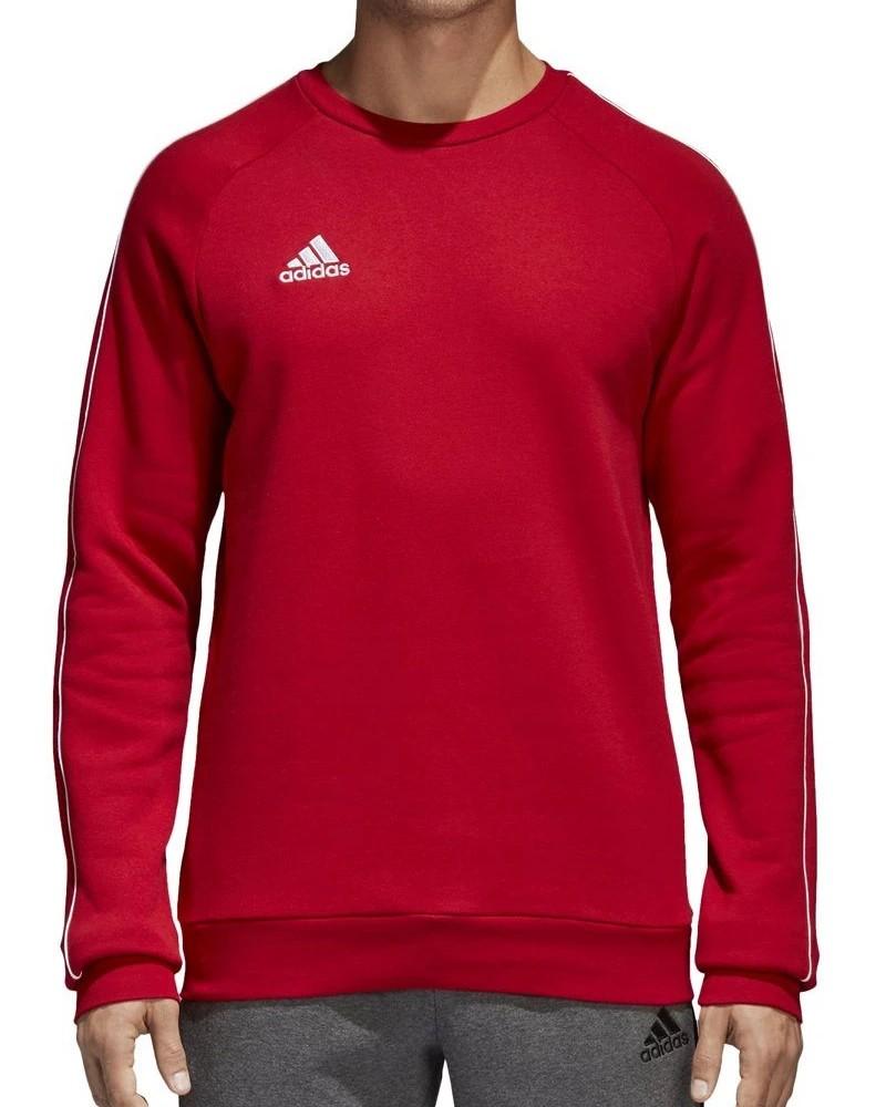 Adidas Core 18 Felpa Sportiva Girocollo pullover Rosso 2020 21 Uomo Cotone 0