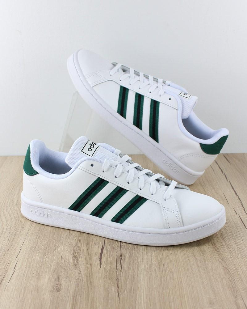 Adidas Scarpe Sportive Sneakers Sportswear Grand Court Uomo Bianco Verde 0