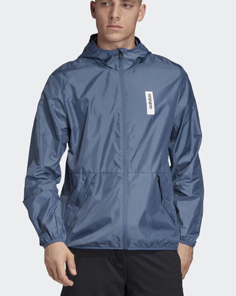 Adidas Giacca Vento pioggia WINDBREAKER BRILLIANT BASICS Uomo Blu 0