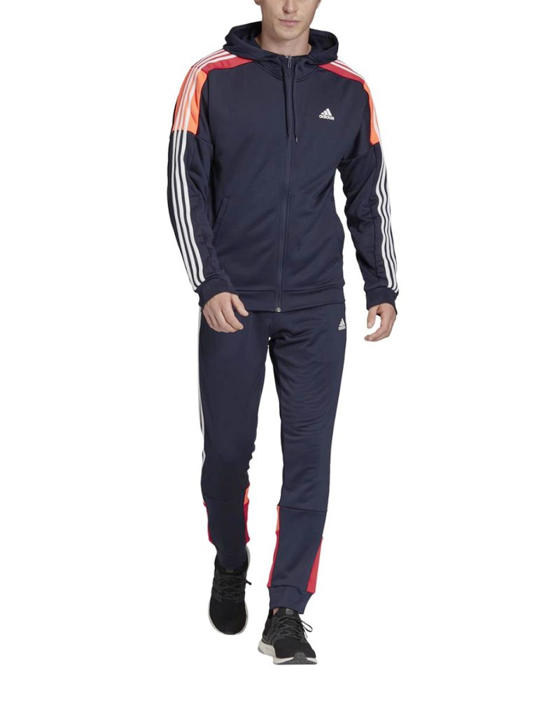 Adidas Tuta Intera Sportiva Tracksuit Blu MTS Sport Uomo poliestere AEROREADY 0