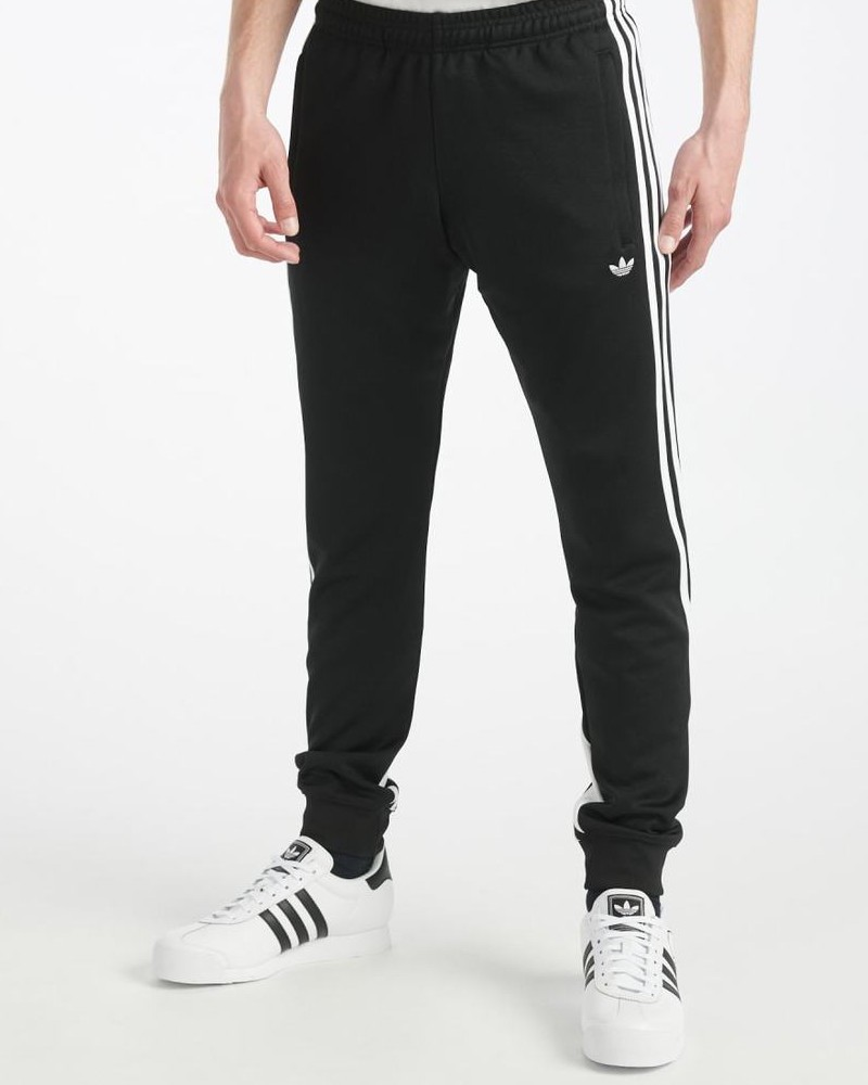 Adidas Originals Trefoil Pantaloni tuta Pants Track 3-Stripes Wrap Nero Uomo 0