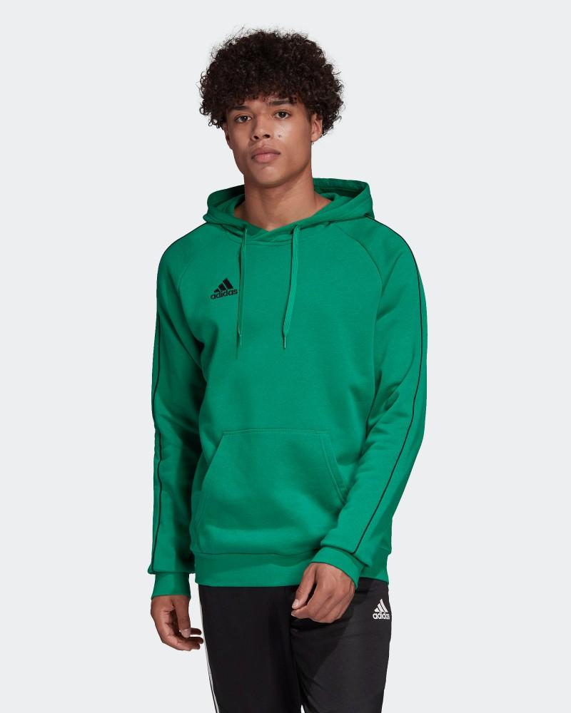 Adidas Core 18 Felpa Cappuccio Hoodie Pullover Verde con tasche Uomo Cotone 0