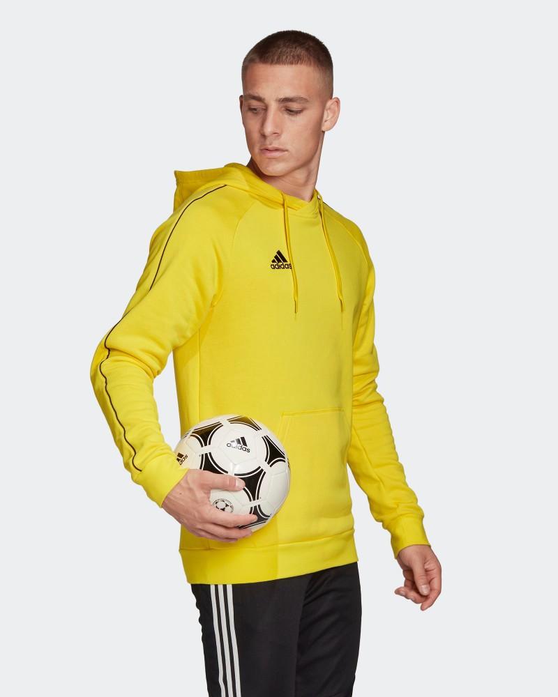Adidas Felpa Cappuccio Hoodie Pullover Uomo Giallo Core 18 cotone 0
