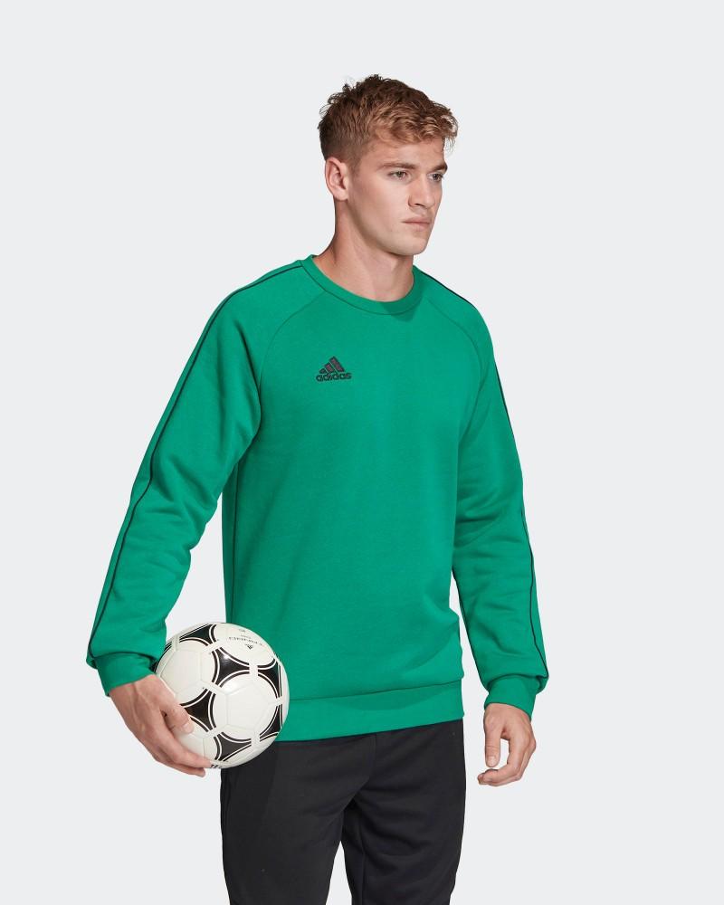 Adidas CORE 18 Felpa Sportiva Girocollo Crew Pullover Verde Cotone Uomo 0