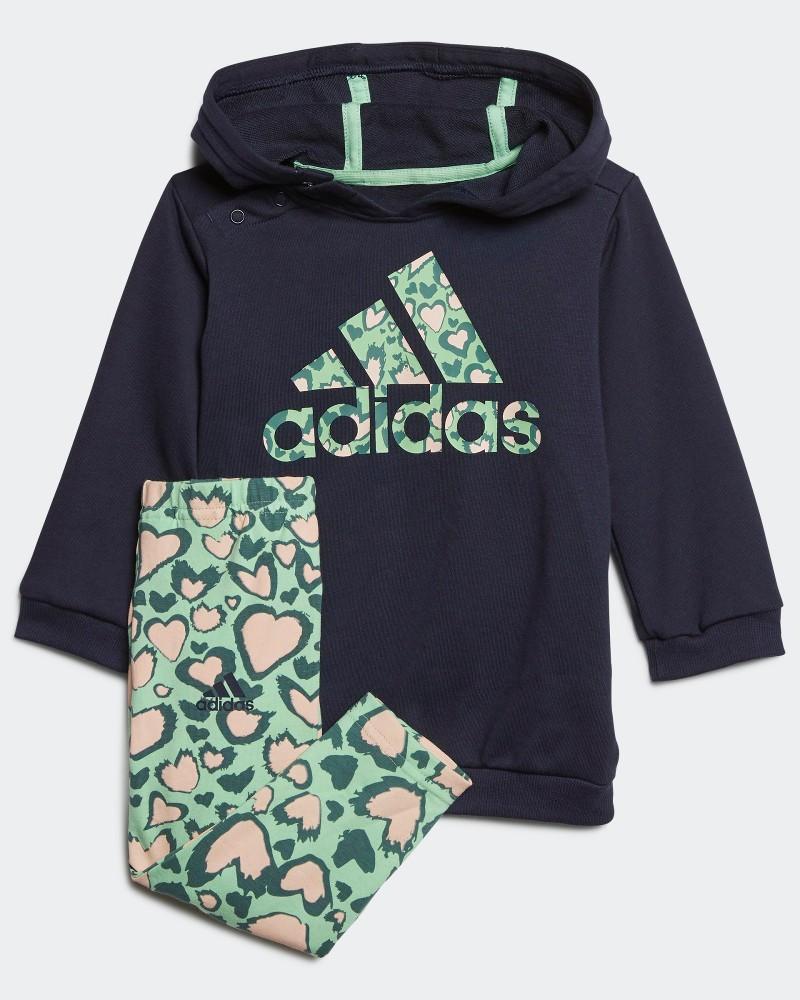 Adidas tuta tutina completo kit DRESS Blu Normale Bambina Cotone leggero 0