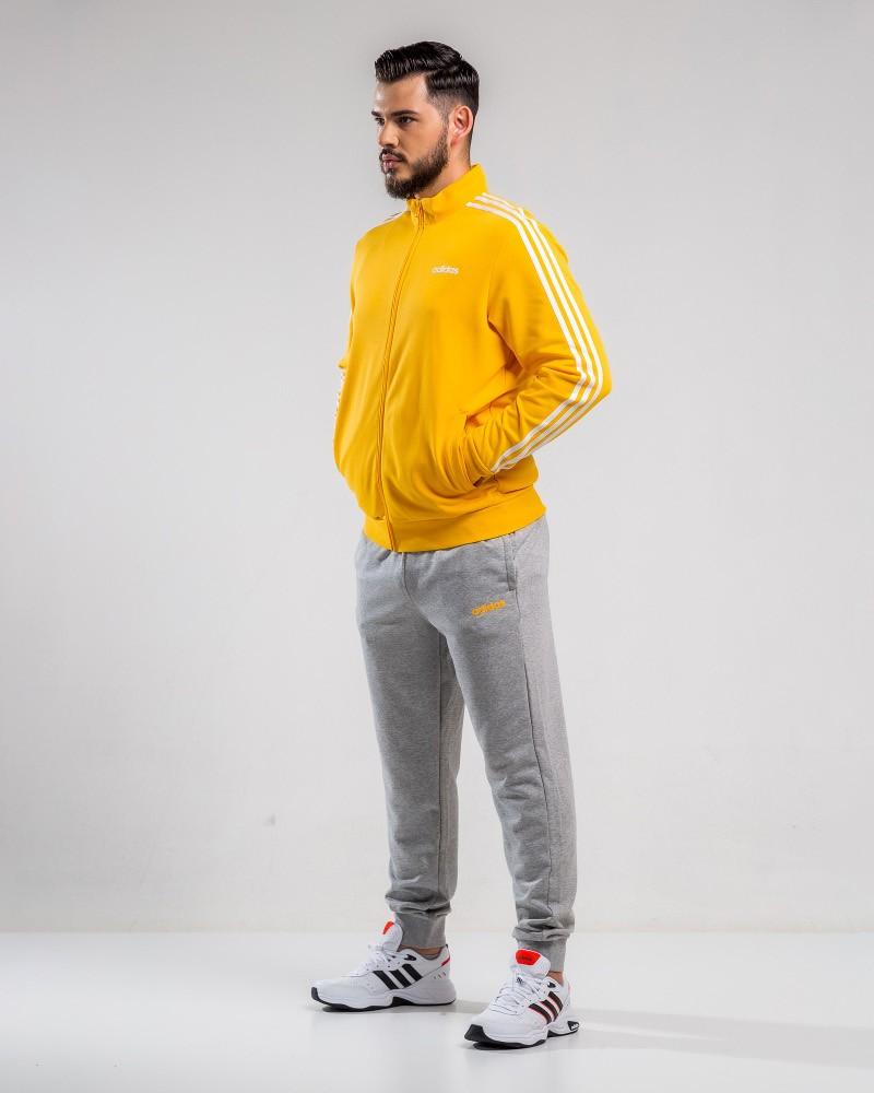 Adidas Tuta sportiva tempo libero MTS CO RELAX Giallo Cotone Felpato 2020 21 0