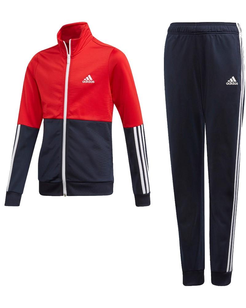 Adidas Tuta Sportiva Ginnastica Bambino Ragazzo Rosso Poliestere Tempo Libero 0