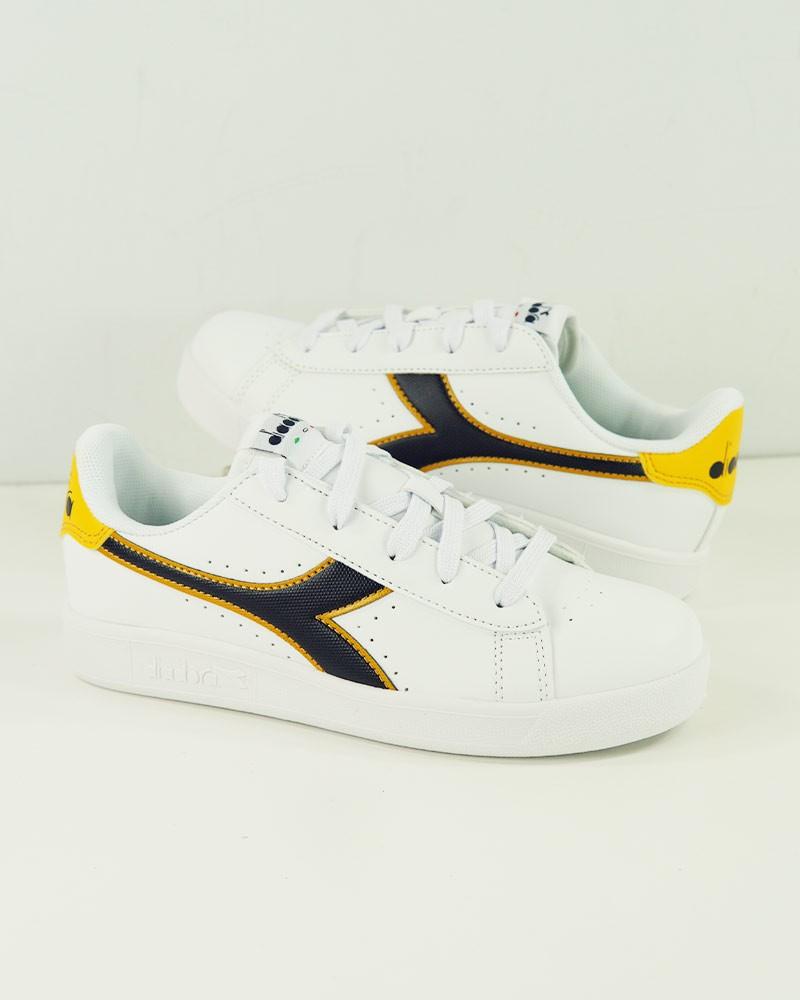 Diadora Scarpe Sneakers Game P GS Uomo Bianco Blu Giallo 0