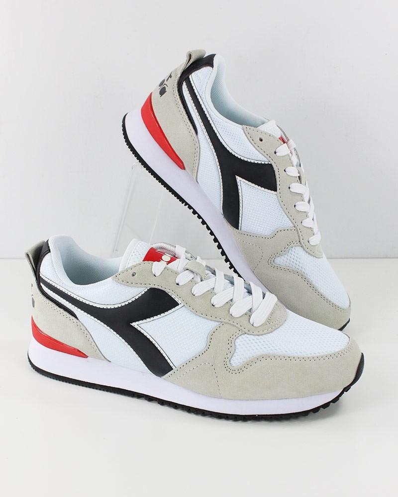 Diadora Scarpe Sneakers Sportive Ginnastica OLYMPIA Bianco Nero footwear 0