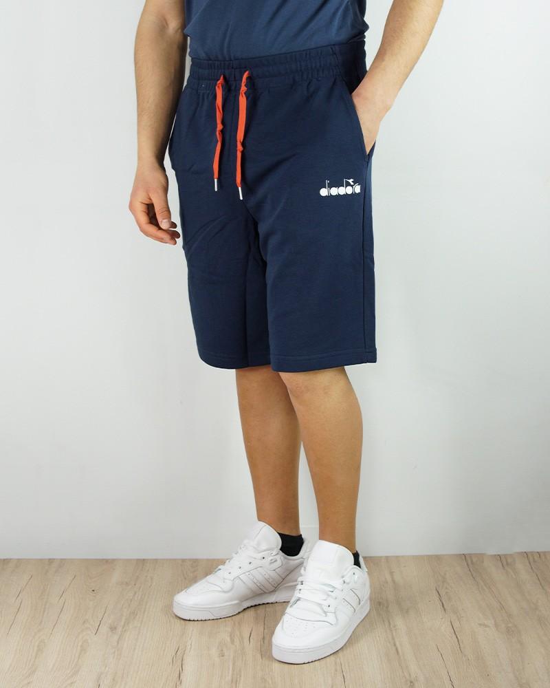 Diadora Club Pantaloncini Shorts Uomo Blu Bermuda Club Tasche senza zip 0