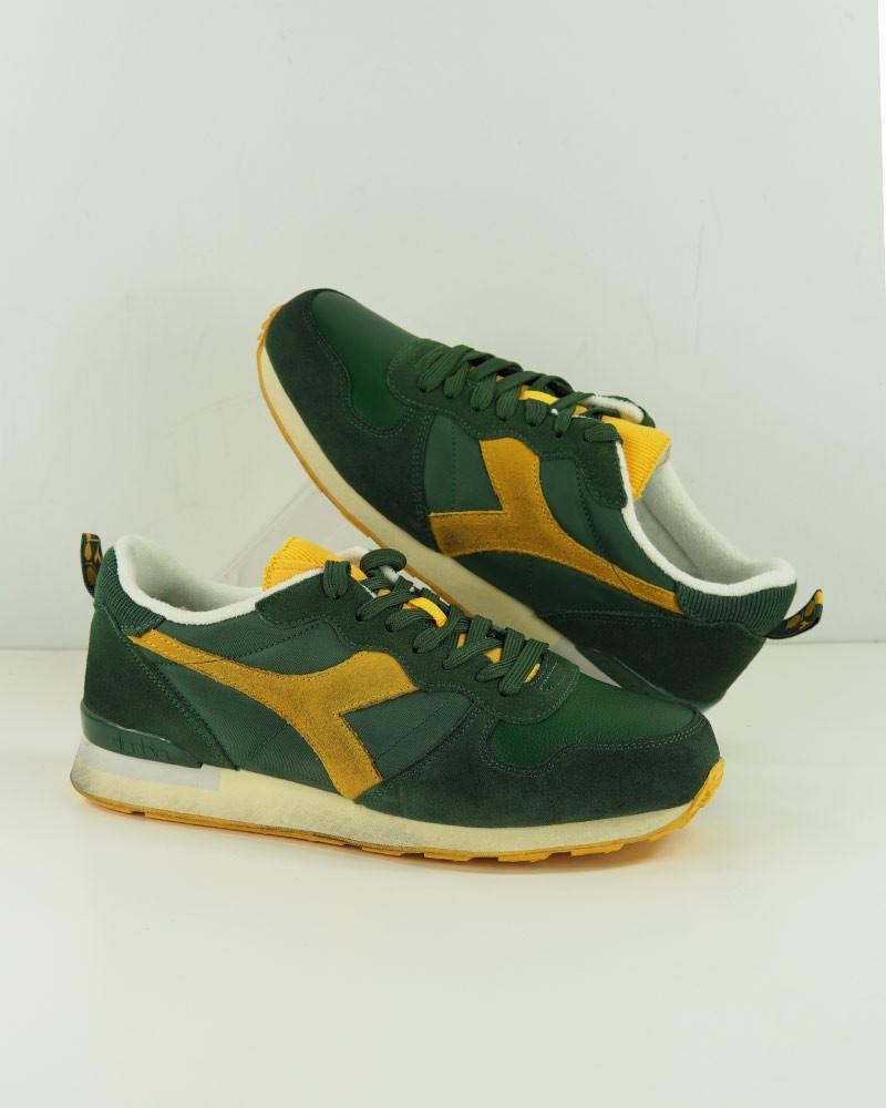 Diadora Scarpe Sneakers CAMARO ICONA Verde Giallo Sportswear lifestyle Uomo 0
