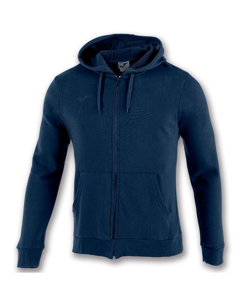Joma Giacca Felpa sportiva cappuccio ARGOS II Cotone Tasche senza zip -Blu 3310