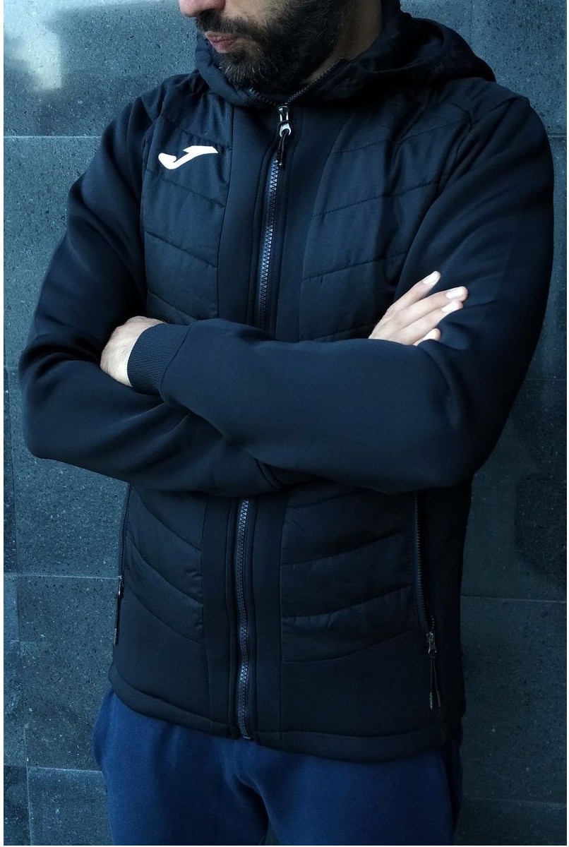 Joma Casual Giacca Sportiva Nero sportswear lifestyle 0