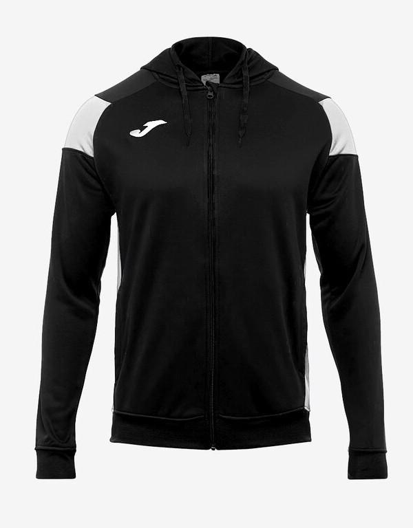 Joma HOODIE POLY CREW III Giacca Tuta Sportiva Uomo Sportswear con tasche -Nero Bianco 1020