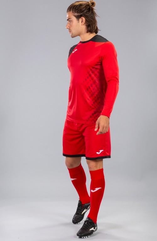 Joma ZAMORA IV Completo Calcio kit set maglia, shorts, calzettoni Uomo -Rosso - 6010