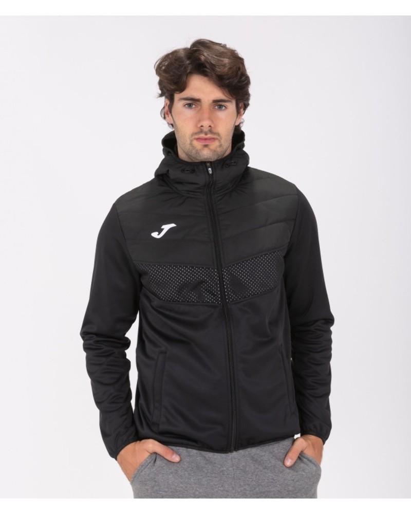 Joma Berna 2 Giacca Sportiva Light jacket Uomo con TASCHE a ZIP Cappuccio -Nero - 1000