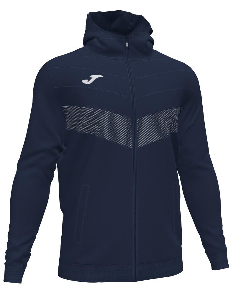 Joma Berna 2 Giacca Sportiva Light jacket Uomo con TASCHE a ZIP Cappuccio -Blu - 3310