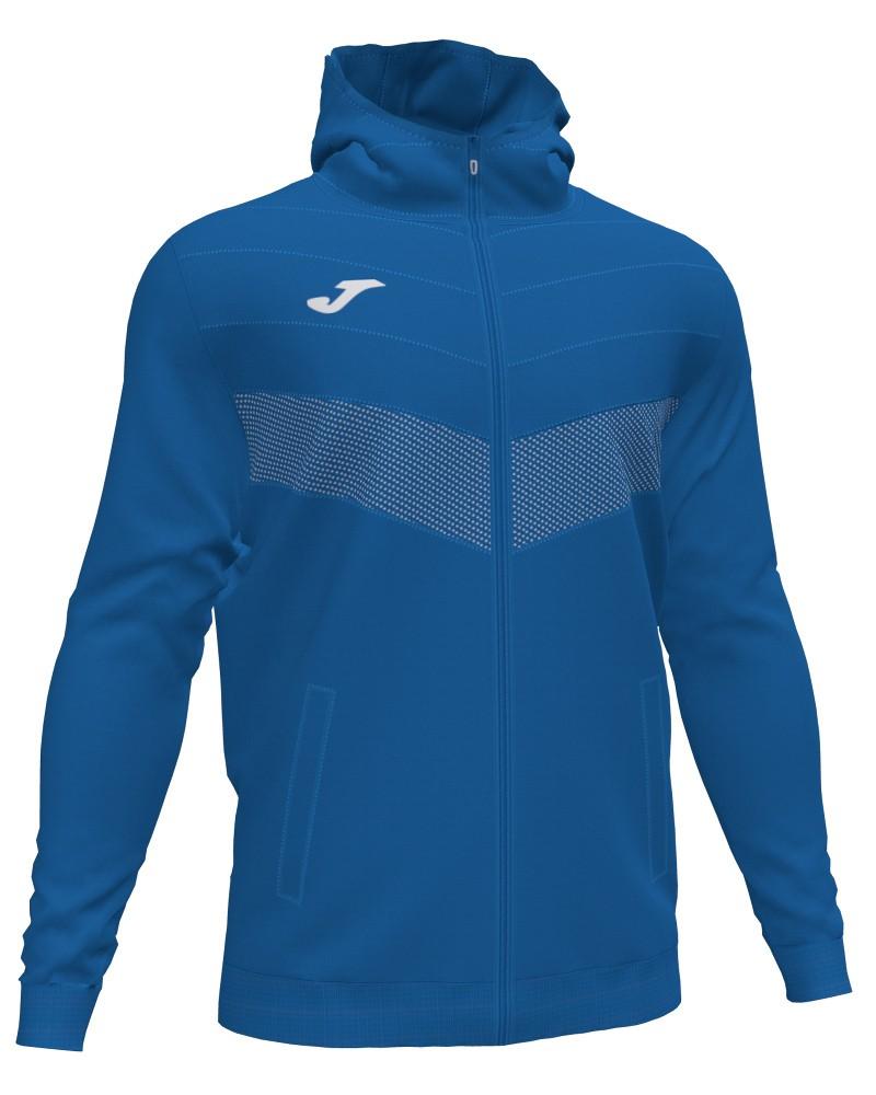 Joma Berna 2 Giacca Sportiva Light jacket Uomo con TASCHE a ZIP Cappuccio -Azzurro - 7000