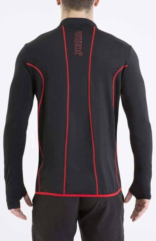 HYBRIDO Joma Felpa Allenamento Training Sweatshirt mezza zip Uomo 2016 17 -Nero - 1060