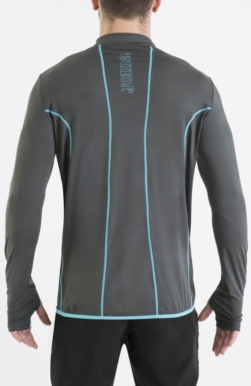 HYBRIDO Joma Felpa Allenamento Training Sweatshirt mezza zip Uomo 2016 17 -Grigio - 1650