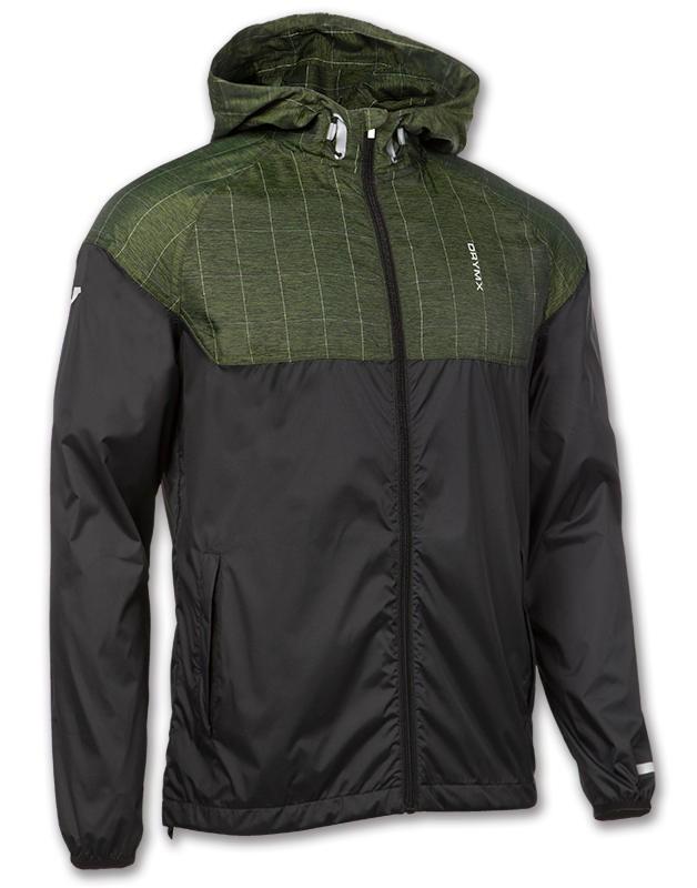 Joma Giacca vento pioggia jacket 2016 17 Uomo TASCHE a ZIP -Nero Verde - 1450
