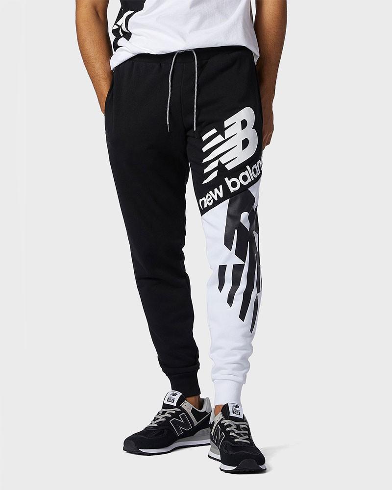 New Balance Pantaloni tuta Pants 2021 Bianco Nero Uomo tasche con zip 0