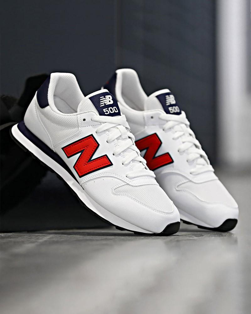 New Balance 500 Scarpe Sportive Sneakers GM 500 Uomo Bianco Rosso 0