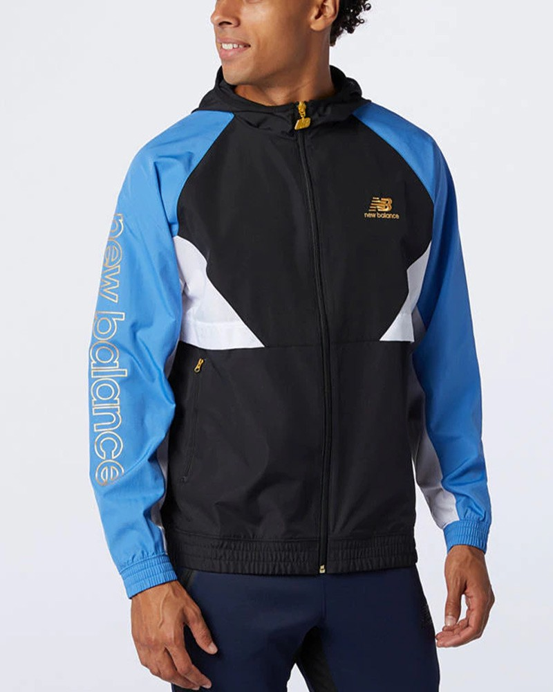 New balance ATHLETICS PODIUM WINDBREAKER Giacca Sportiva Uomo Blu 0