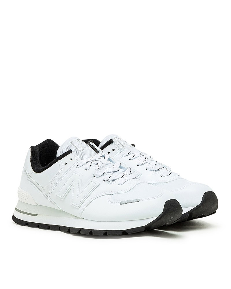 New Balance 574 Scarpe Sneakers Trainers Sportive Uomo Bianco DTA pelle 0