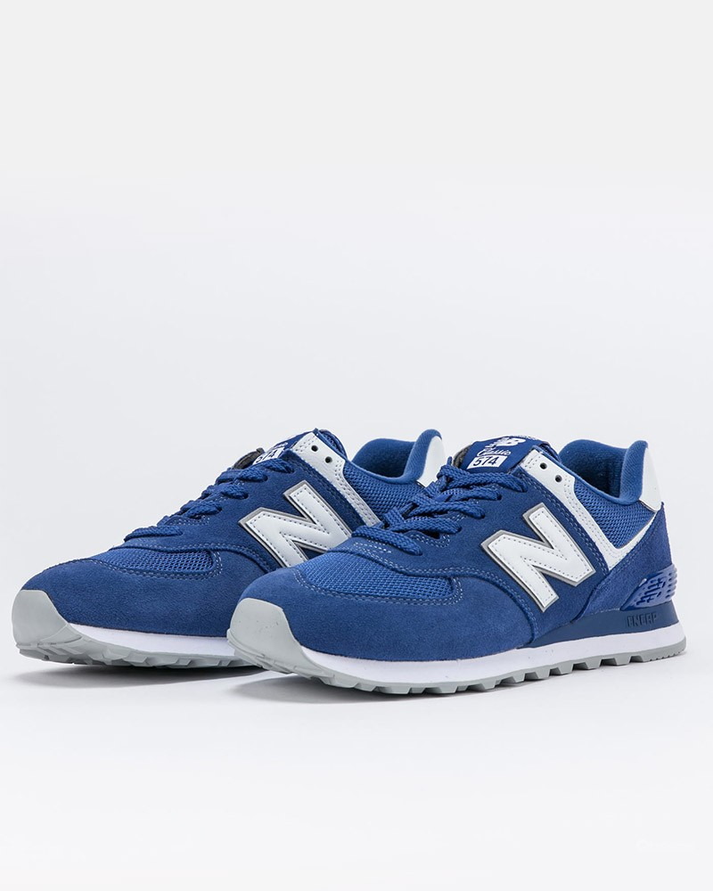 New Balance 574 Scarpe Sneakers ET2 Uomo Blu 2021 Suede Mesh 0