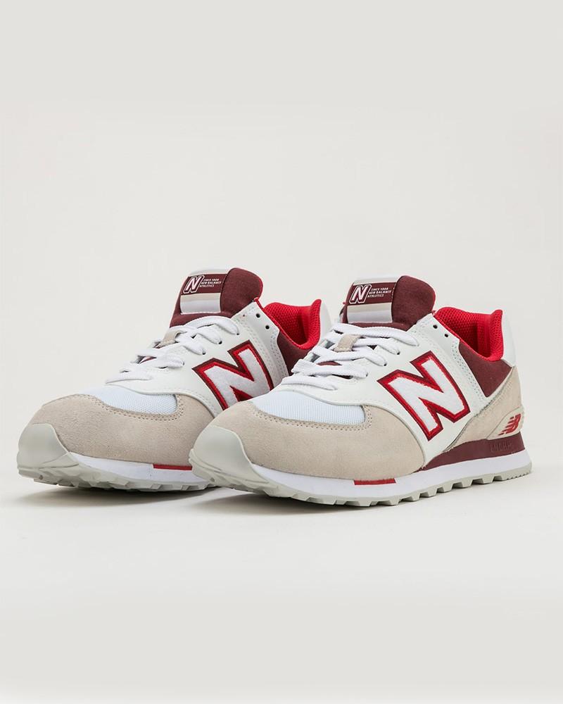 New Balance 574 Scarpe Sportive Sneakers NLA Uomo Bianco Lifestyle 0