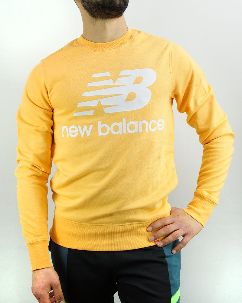 New Balance Essentials Stacked Logo Crew Felpa Sportiva girocollo pullover Uomo 0