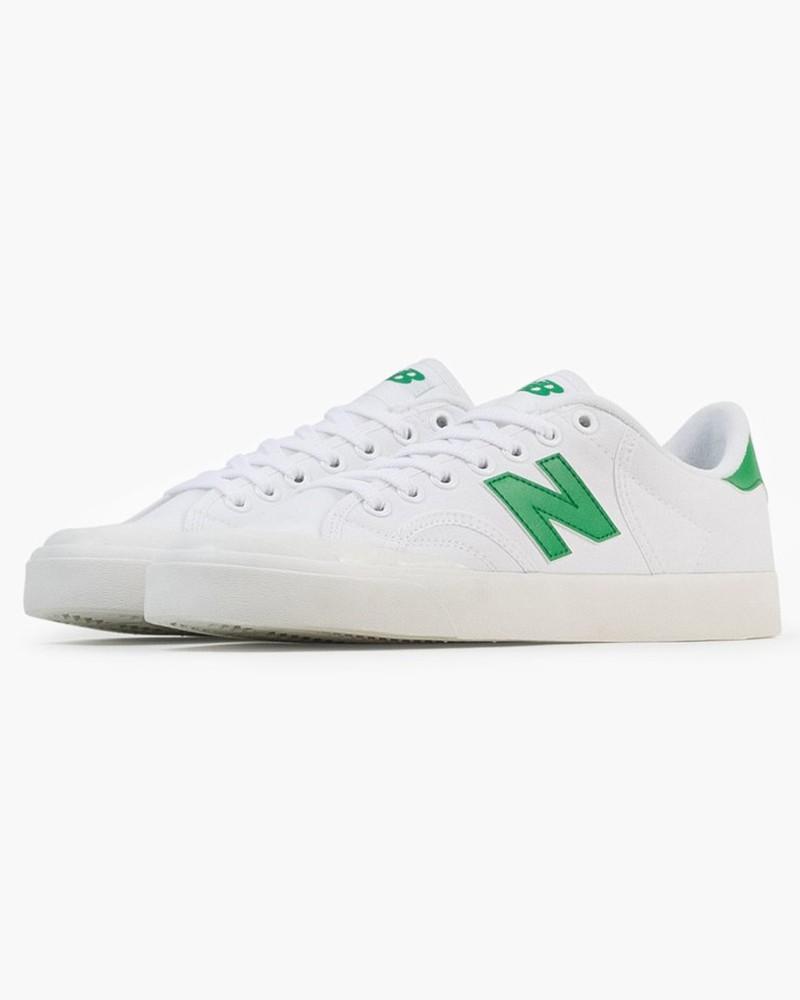 New Balance Pro Court Scarpe Sportive Sneakers Canvas Uomo Bianco Verde