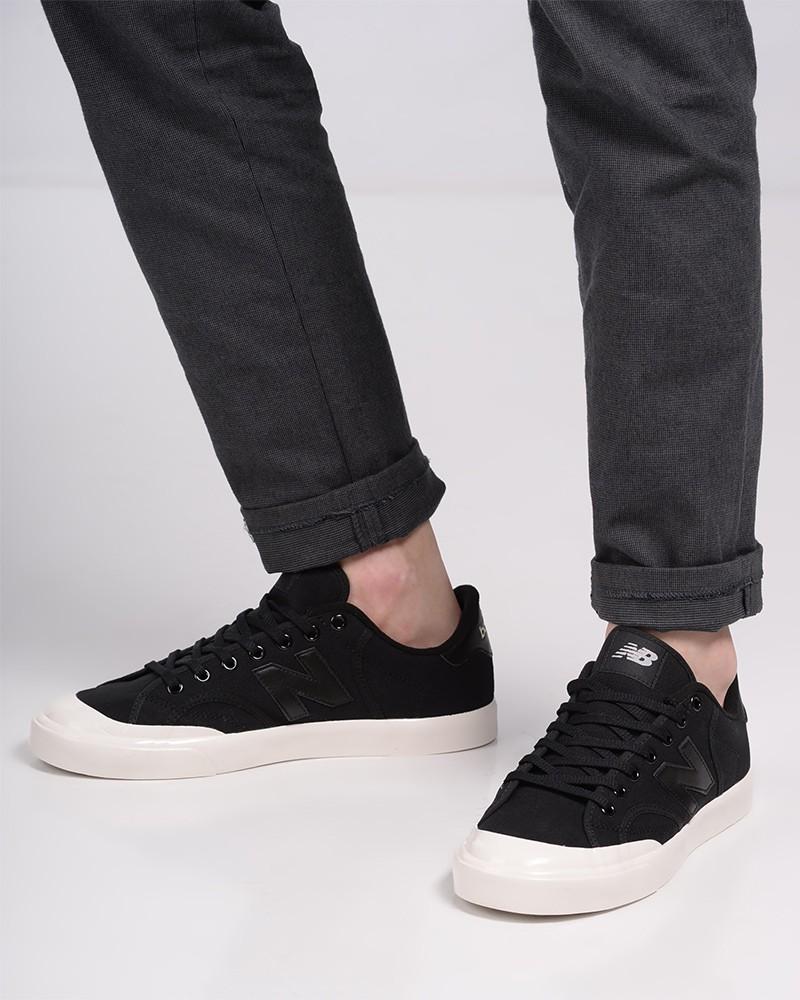 New Balance Scarpe Sportive Sneakers Pro Court Nero Canvas Uomo