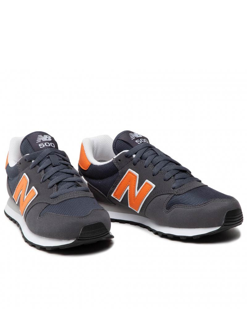New Balance 500 Scarpe Sportive Sneakers sportswear lifestyle Grigio Arancione 0