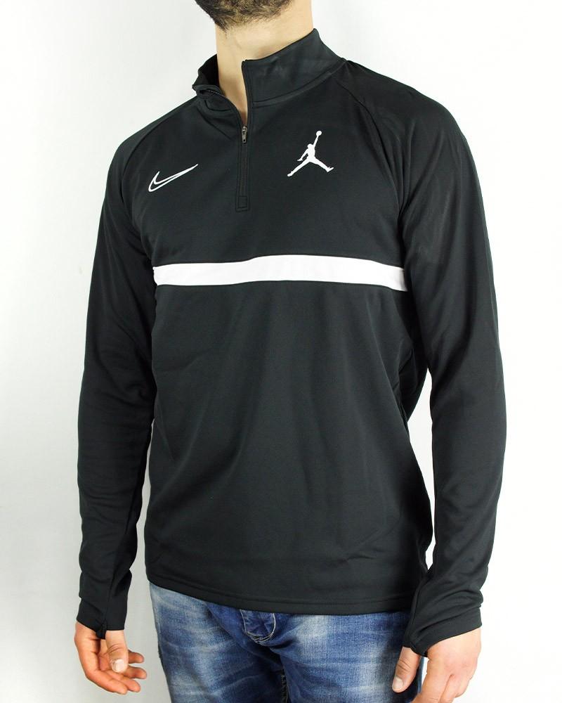 Nike JORDAN Felpa Allenamento Training Sweatshirt Nero Uomo 2021 Tempo Libero 0