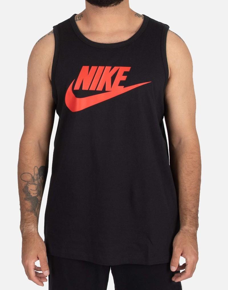 Nike smanicato canotta Nero Sportswear Icon Futura Tank Uomo 0