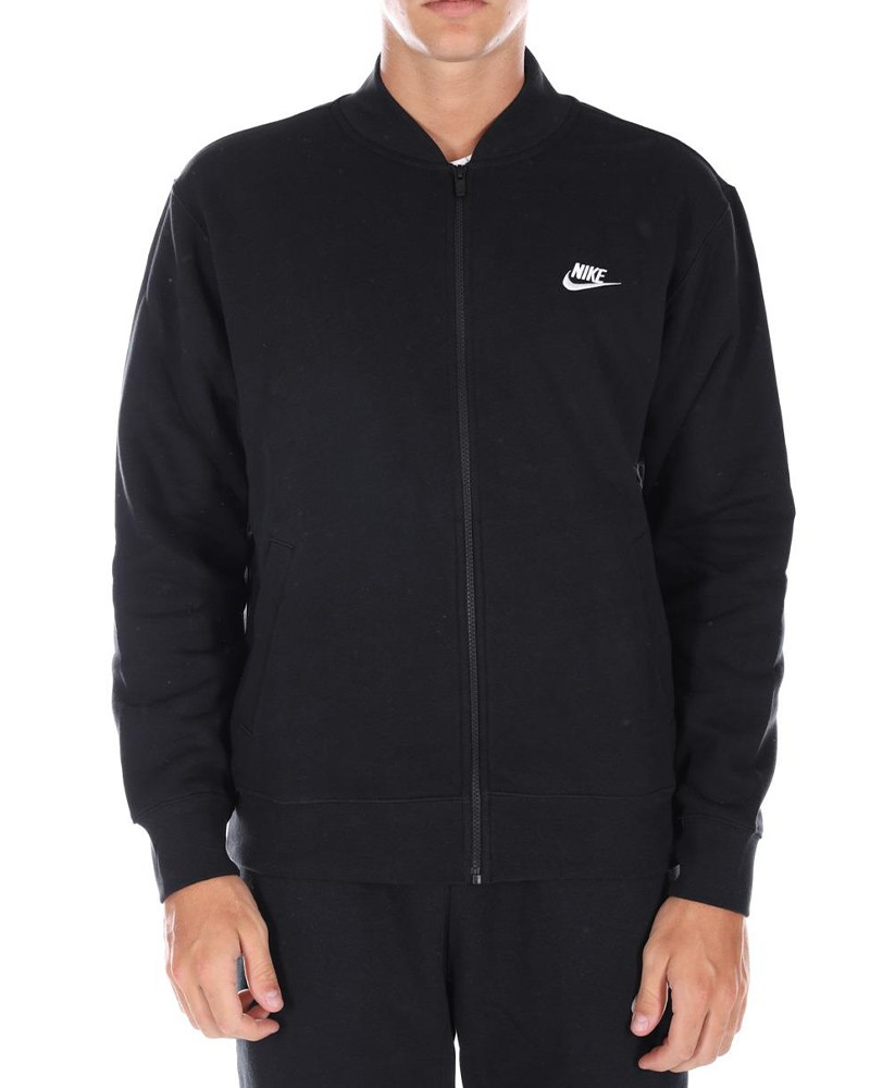 Nike Giacca Sportiva Sportswear Club Fleece Nero cotone Lifestyle 0
