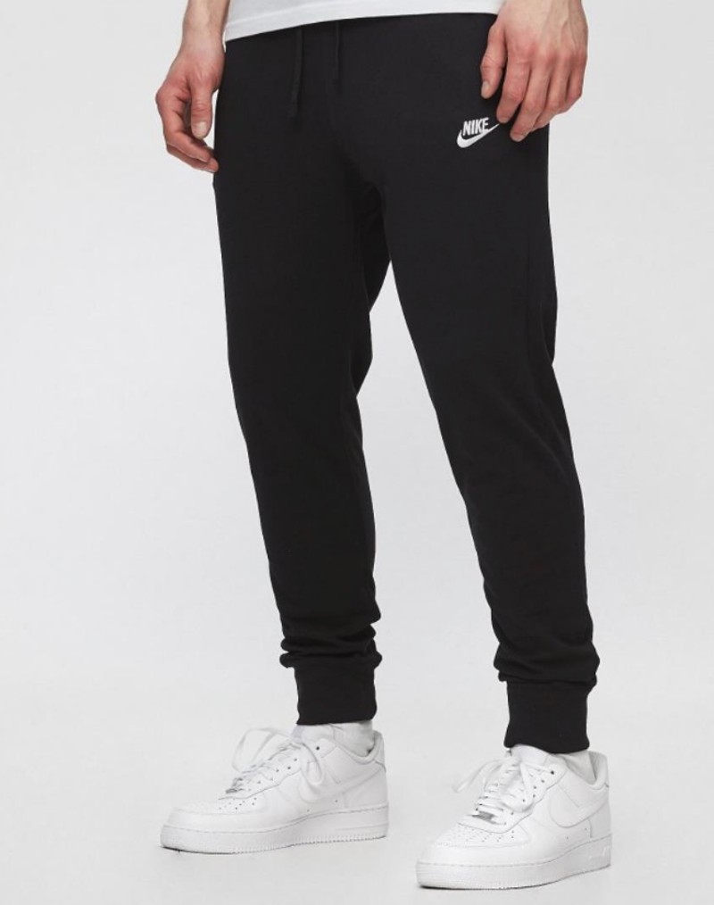 Nike Pantaloni tuta Pants NSW Club Jogger Jersey Nero Uomo Cotone leggero 0