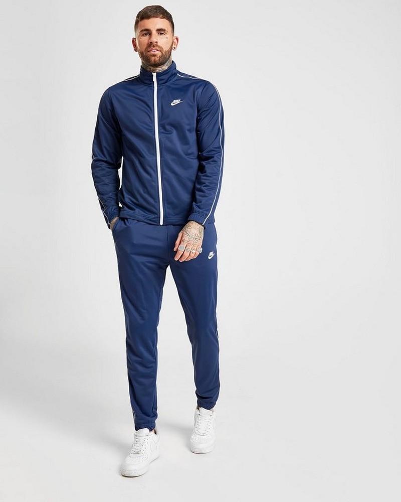 Nike Tuta Sportiva Tempo libero BASIC Uomo Blu con tasche 0